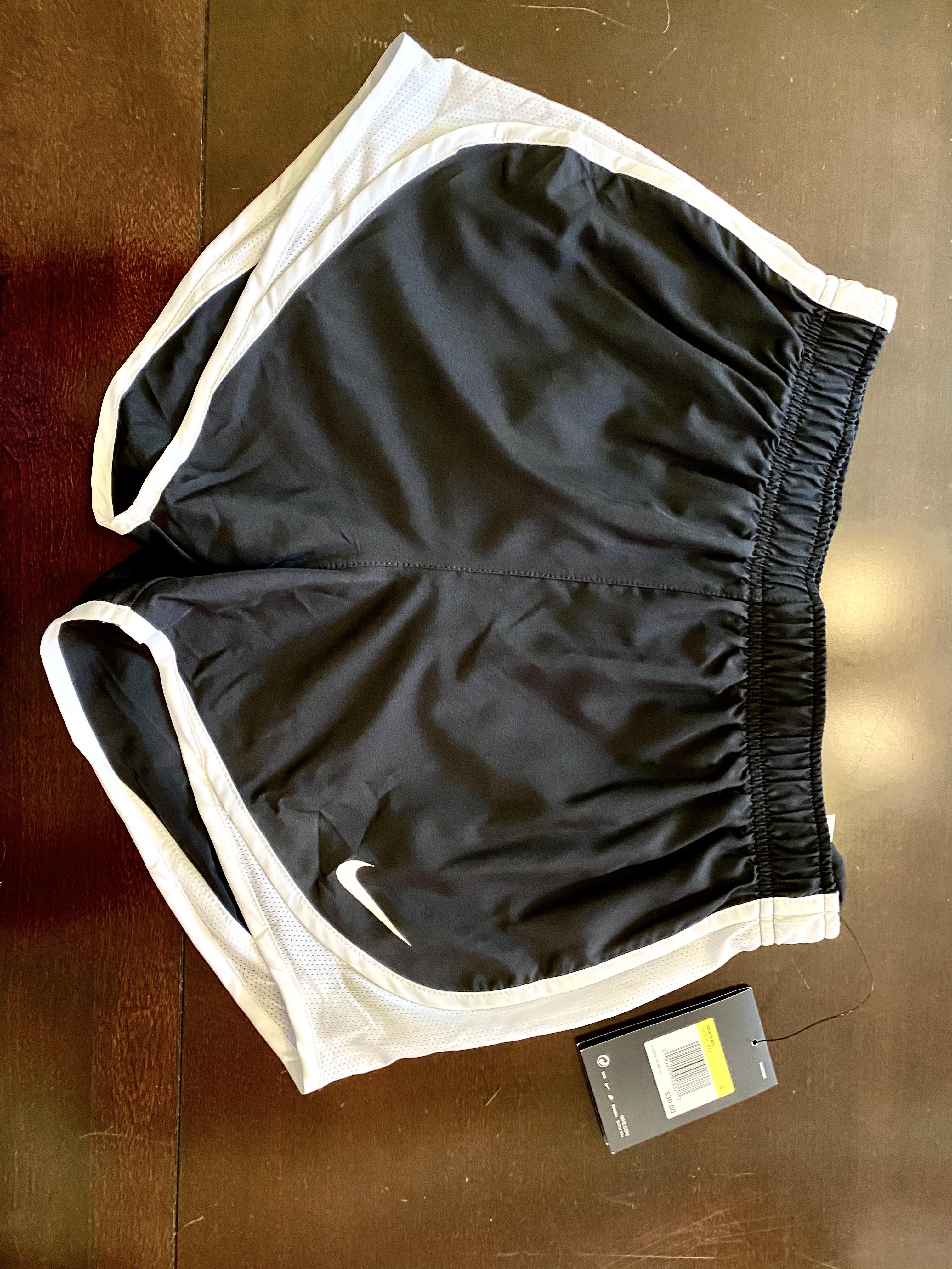 Women's Black & White Nike Running Shorts