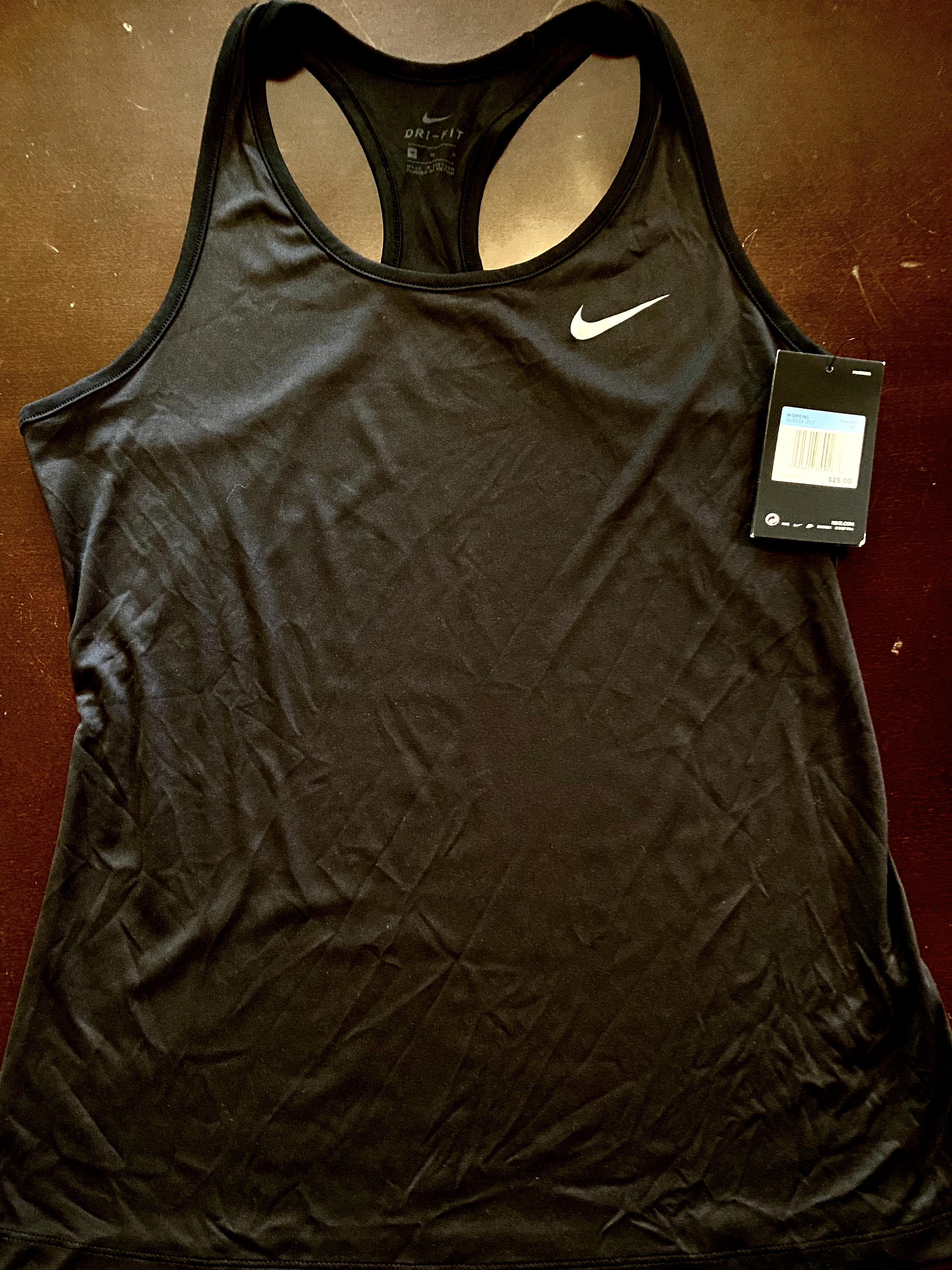 Medium Women's Black Nike Dri-Fit Tank